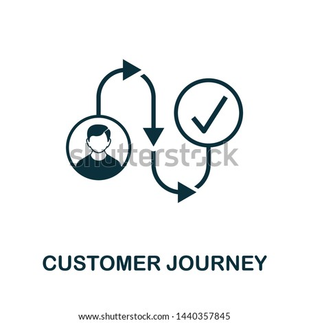 Customer Journey vector icon illustration. Creative sign from crm icons collection. Filled flat Customer Journey icon for computer and mobile. Symbol, logo vector graphics.