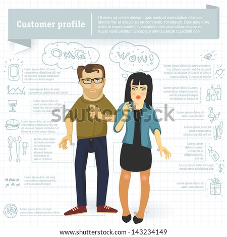 customer profile infographic...