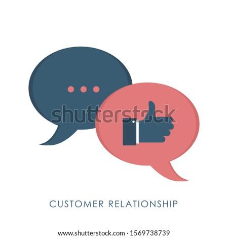 Customer Relationship flat design concept