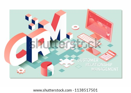 Customer relationship management CRM concept.Analysis Service Concept