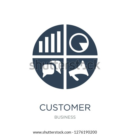 customer relationship management icon vector on white background, customer relationship management trendy filled icons from Business collection, customer relationship management vector illustration