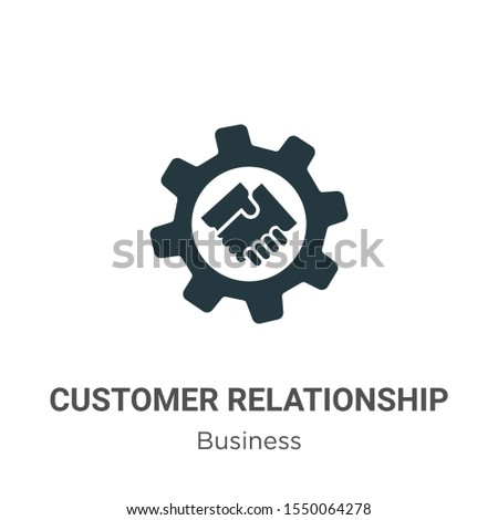 Customer relationship management vector icon on white background. Flat vector customer relationship management icon symbol sign from modern business collection for mobile concept and web apps design.