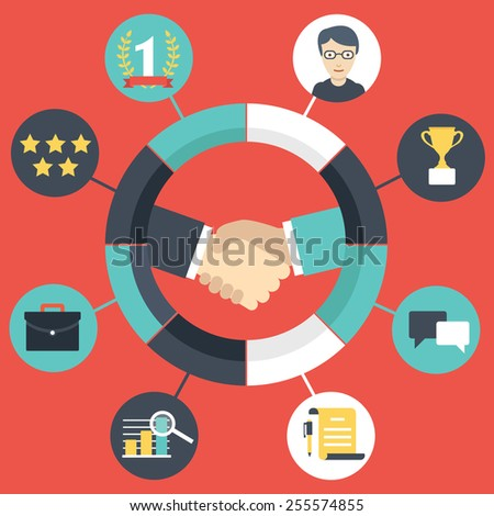 Customer Relationship Management - vector illustration