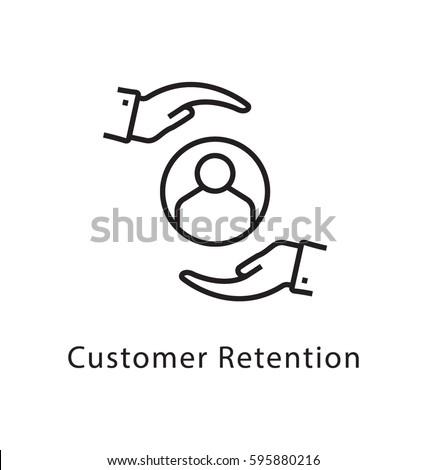 Customer Retention Vector Line Icon