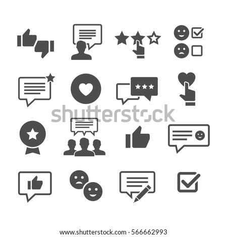 customer reviews vector icon