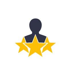 customer satisfaction icon on white