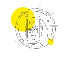 Customer satisfaction line icon. Positive feedback sign. Vector