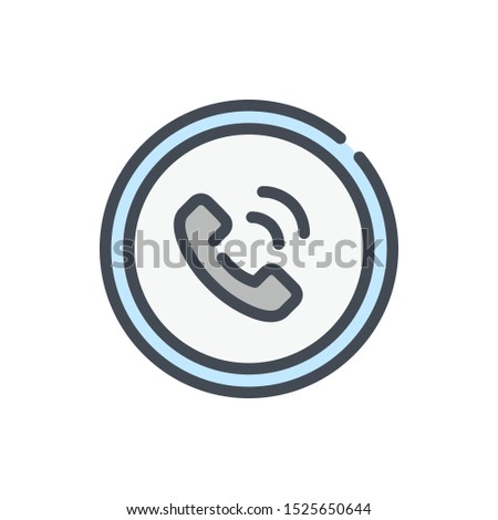 Customer service color line icon. Helpline and callback vector outline colorful sign.