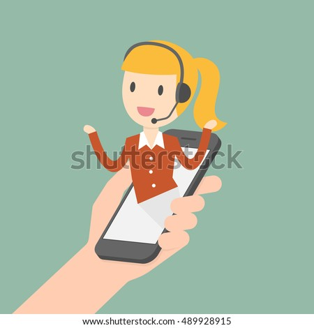 Customer Service. Customer Service Representative. Online Information Technology Concept Illustration.