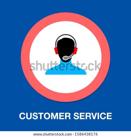 Customer Service icon. flat illustration of Customer Service vector icon. Customer Service sign symbol