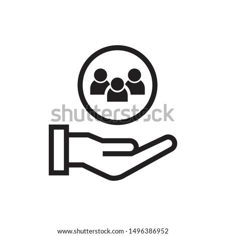 customer service icon vector illustration. flat design Сток-фото ©