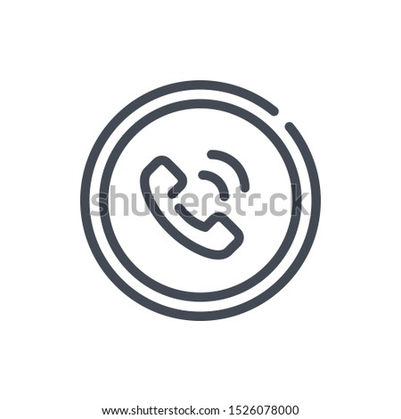 Customer service line icon. Helpline and call back vector outline sign.