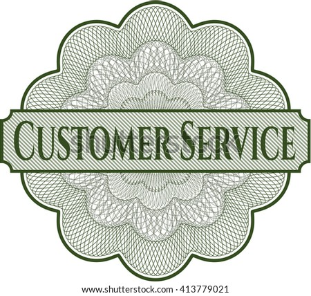 Customer Service linear rosette