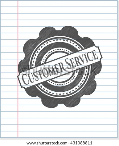 Customer Service penciled
