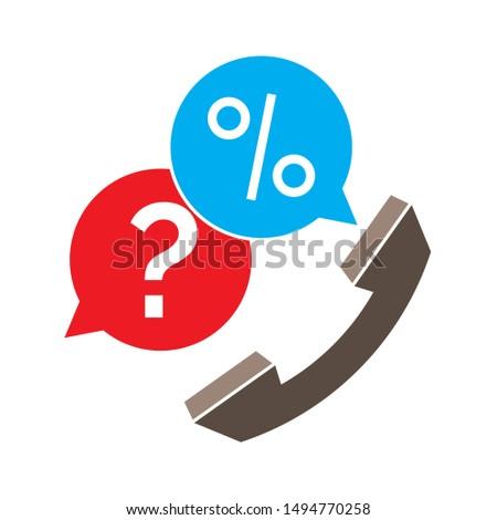 customer-service telephone icon. flat illustration of customer-service telephone - vector icon. customer-service telephone sign symbol