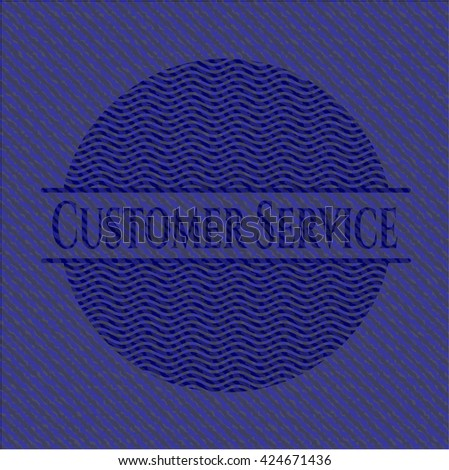 Customer Service with jean texture
