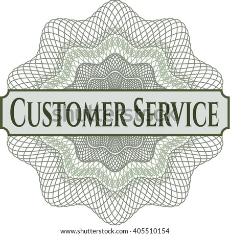 Customer Service written inside abstract linear rosette