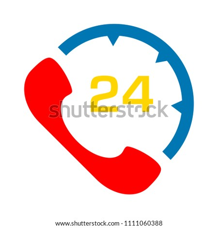 customer support center. 24 7 support service - help sign symbol