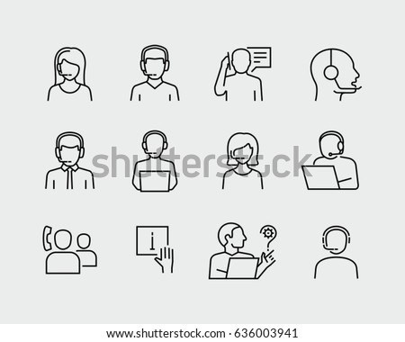 Customer Support Service Vector Icons