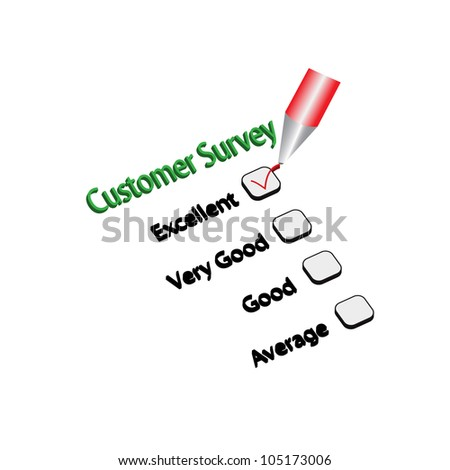 Customer Survey Checklist Vector