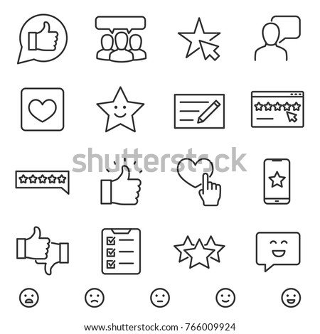 customer testimonials icons set
