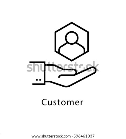 Customer Vector Line Icon