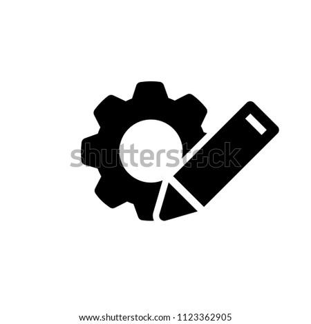customisation icon, vector illustration Foto d'archivio ©