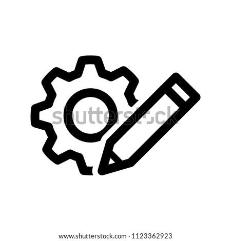 customisation icon, vector illustration Photo stock ©