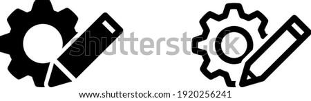 customisation icon , vector illustration Foto d'archivio ©