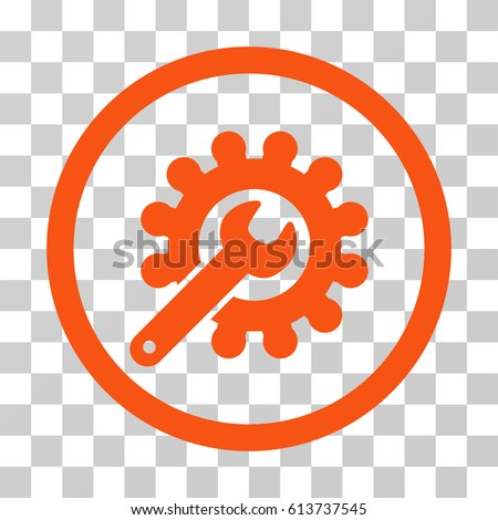 Customization icon. Vector illustration style is flat iconic symbol, orange color, transparent background. Designed for web and software interfaces.