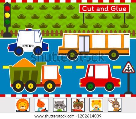 Cut and Glue Game: Roadway