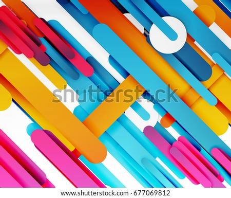 cut 3d paper color straight