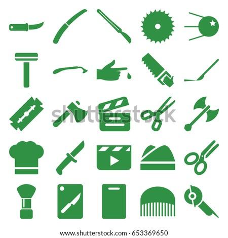 cut icons set set of 25 cut