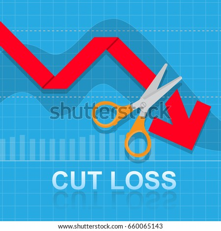 cut loss vector artwork