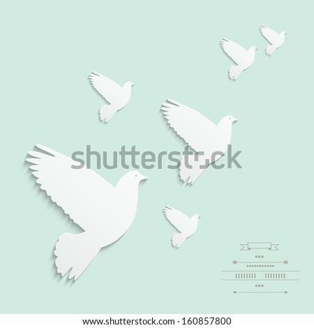 cut out dove gentle