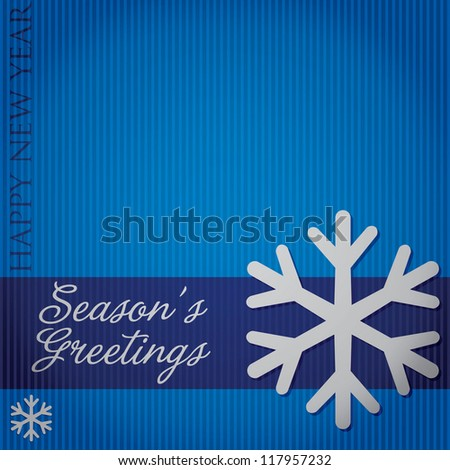 "Cut out ""Season's Greetings"" snowflake card in vector format."