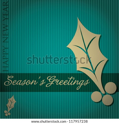 "Cut out ""Season's Greetings"" tree card in vector format."