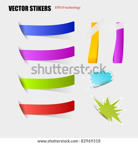 cut stickers eps10 vector