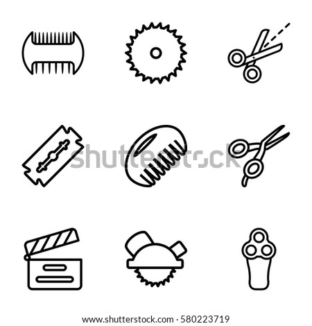 cut vector icons set of 9 cut