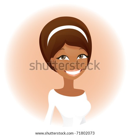 Cute african woman (vector version) - stock vector