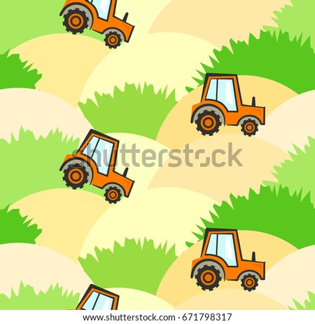 cute agricultural kids pattern