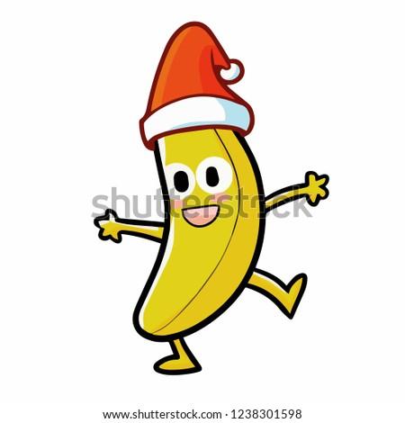 cute and funny banana wearing
