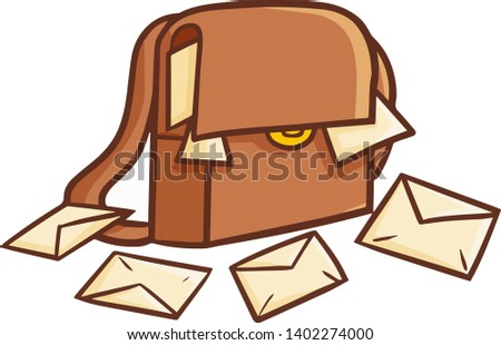 cute and funny brown postman