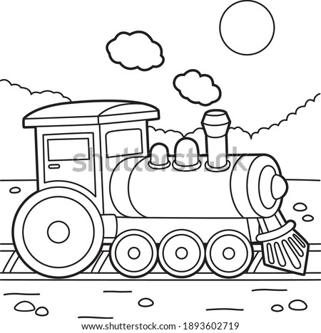 cute and funny coloring page of