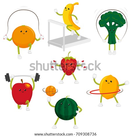 cute and funny fruit and berry