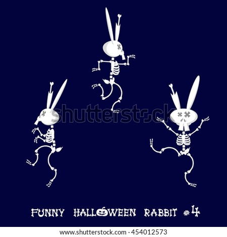 cute and funny skeleton rabbit