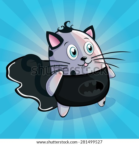 cute and happy vector cat