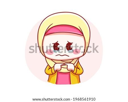 cute and kawaii hijab girl