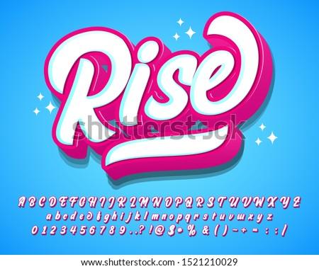 Cute and playful modern script alphabet design
