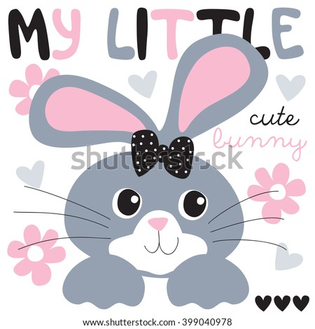cute and pretty bunny vector